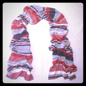 Juicy couture multicolor striped scarf